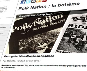 Polk Nation a rencontré Mathilde de InfosMusic lors du Riding Release Tour en Mars…